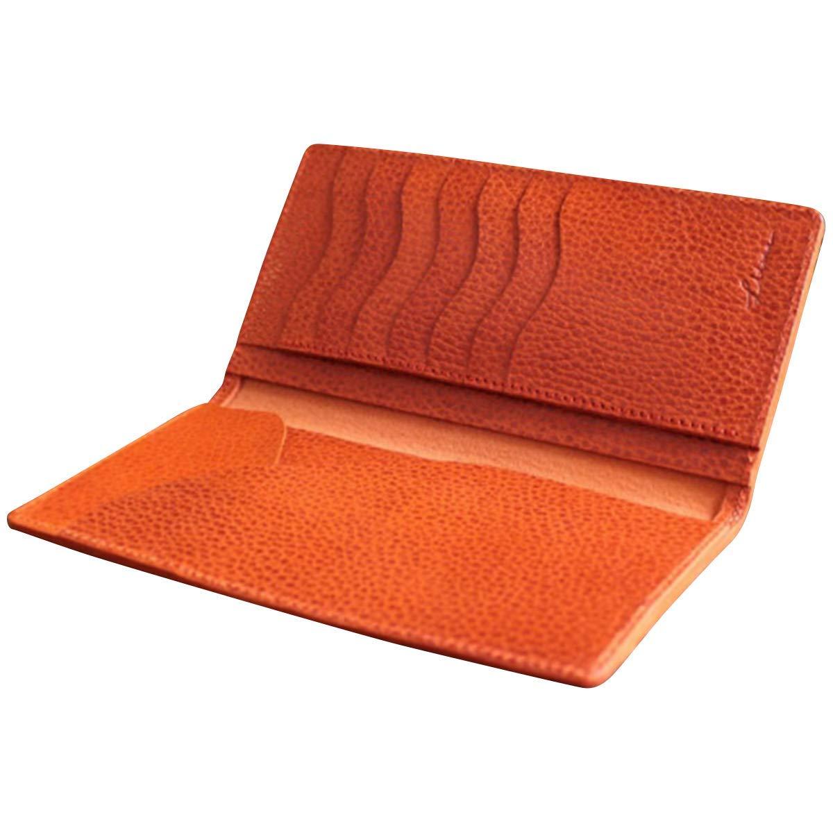 【クーポンあり】LITSTA リティスタ Bill Case Orange オレンジ | ビルケース 束入れ 札入れ 長財布 薄い 極薄 イタリアンレザー dollaro ドラーロ メンズ レディース 人気 おすすめ おしゃれ かわいい プレゼント 日本製