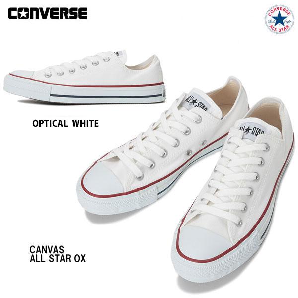 送料無料 コンバースジャパン正規品 Converse キャンバス 流行 オールスター オックス オプティカルホワイト 22.0cm-25.0cm レディースサイズ ユニセックス スニーカー Canvas Optical All 靴 White 定番 Star 一部予約 コンバース OX