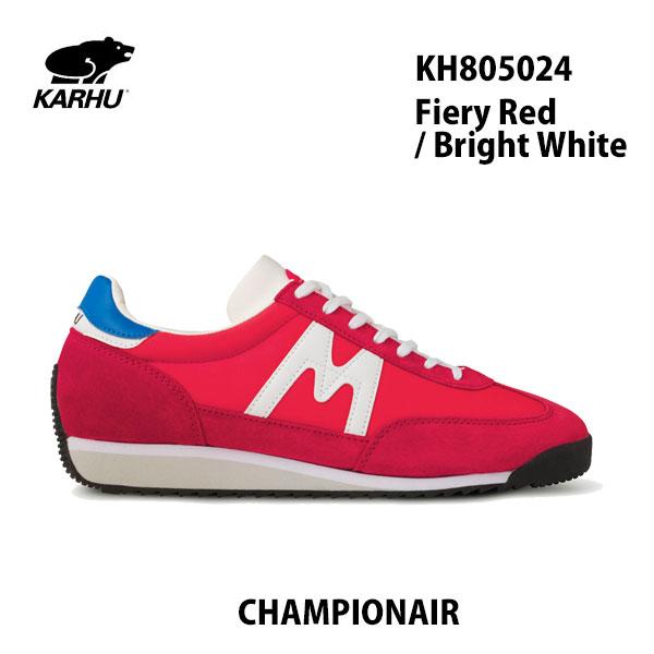 KARHU KH805024 ファィアリィ レッド/ブライト ホワイト チャンピオンエアカルフ CHAMPIONAIR Fiery Red / Bright White レディース メンズ ユニセックス 靴 クッションシューズ スニーカー シロクマ 北欧