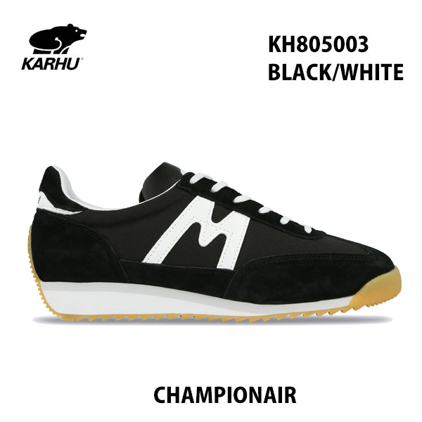 KARHU KH805003 ブラック/ホワイト チャンピオンエアカルフ CHAMPIONAIR  BLACK/WHITE レディース メンズ ユニセックス 靴 クッションシューズ スニーカー シロクマ 北欧