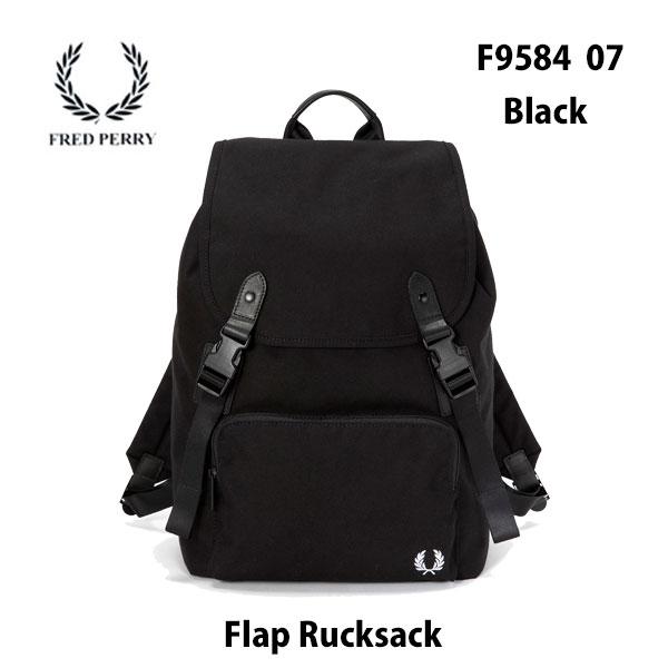 FRED PERRY F9584 07 ブラック フラップ リュックサック ブラック あす楽対応フレッドペリーRucksack BLACK  バッグ 鞄 リュックサック バックパック メンズ レディース ユニセックス 男女兼用