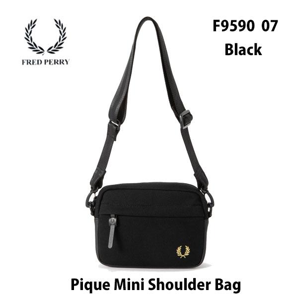 FRED PERRY F9590 07 ブラック ピケ ミニショルダー あす楽対応 フレッドペリー Pique Mini Shoulder Bag BLACK バッグ 鞄 ショルダーバッグ メンズ レディース ユニセックス 男女兼用
