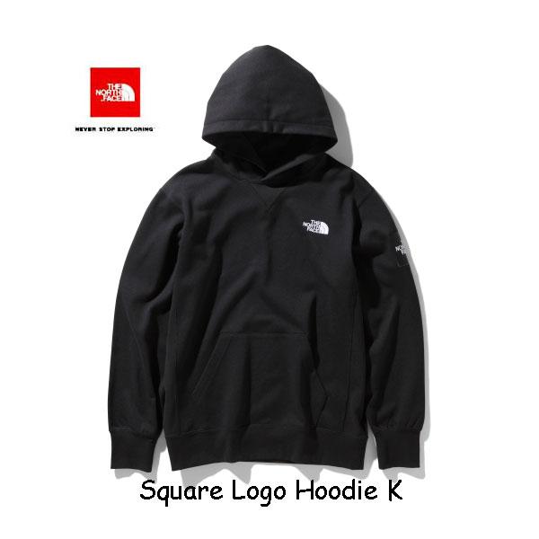 ザ ノースフェイス NT12035 K スクエアロゴフーディー(メンズ) スウェットフーディ The North Face Square Logo Hoodie NT12035 K ブラック