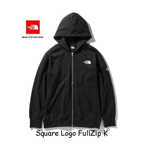 ザ ノースフェイス NT12037 K スクエアロゴフルジップ(メンズ) スウェット パーカー The North Face Square Logo FullZip NT12037 K ブラック