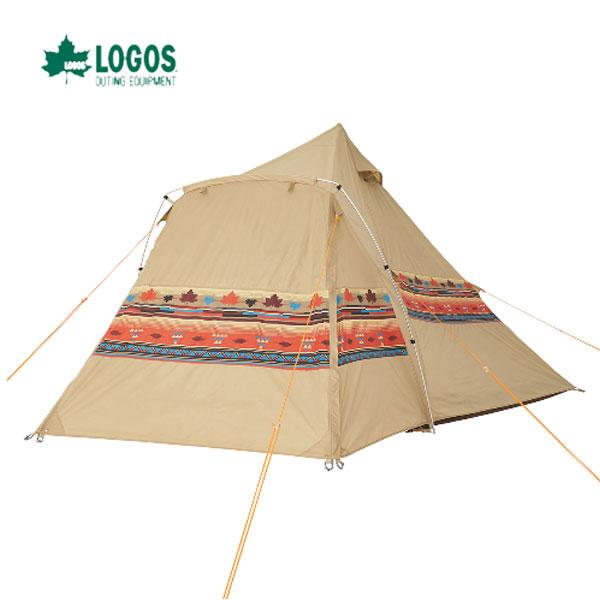 LOGOS 71806520 ナバホEX Tepeeリビング400-AI あす楽対応 風に強くて組立て簡単! 贅沢なリビング付きワンポールテント。 ロゴス キャンプ フェス アウトドア テント