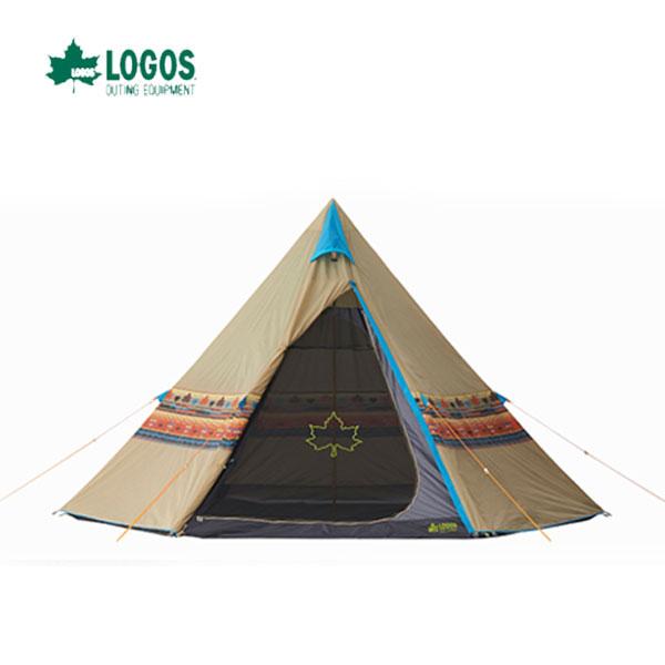 LOGOS 71806500 ナバホ Tepee 400 あす楽対応 ナバホ柄に大型ティピーテント ロゴス キャンプ フェス アウトドア テント