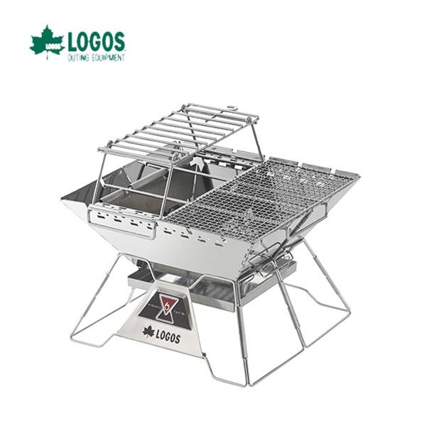 LOGOS 81064166 LOGOS the ピラミッドTAKIBI L コンプリート オプションパーツをフル装備!たき火&鍋料理&BBQが楽しめる ロゴス キャンプ フェス バーベキュー アウトドア 焚き火台