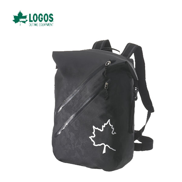LOGOS 88200086 あす楽対応 SPLASH mobi ダッフルリュック(ブラックカモ) 水に強くて超軽量 ロゴス キャンプ フェス バーベキュー アウトドア リュック