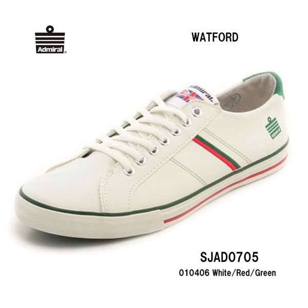 Admiral SJAD0705 010406 ワトフォード ホワイト/レッド/グリーン  White/Red/Green レディース メンズ ユニセックス  アドミラル WATFORD 靴 スニーカー ローカット シューズ