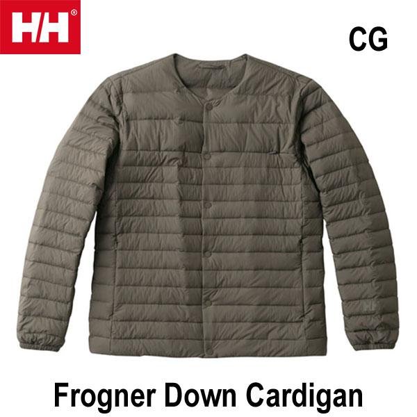 Helly Hansen あす楽対応 WM WL フログネルダウンカーディガン(ユニセックス)  ヘリーハンセン Frogner Down Cardigan (CG)シダーグリーン HOE11856 CG