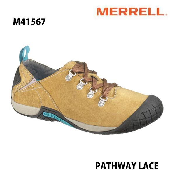 Merrell M41567 PATHWAY LACE Men's ANTELOPE メレル メンズ パスウェイレース アンテロープ メンズ アウトドア シューズ 幅2E相当