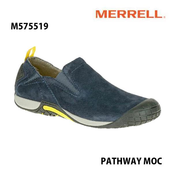 Merrell M575519 PATHWAY MOC Men's NAVY メレル メンズ パスウェイモック ネイビー メンズ アウトドア シューズ 幅2E相当