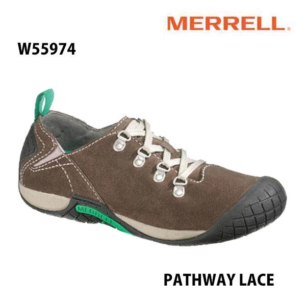 Merrell PATHWAY LACE Women's W55974 MERRELL STONE メレル ウィメンズ パスウェイレース レディースアウトドア シューズ 幅2E相当