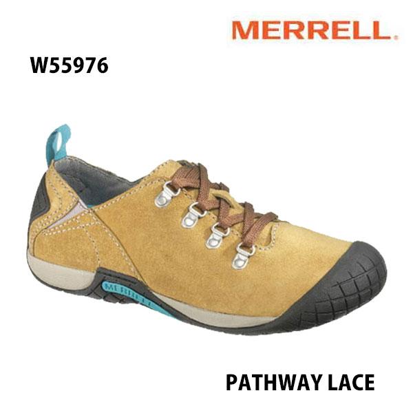Merrell PATHWAY LACE Women's W55976 ANTELOPE メレル ウィメンズ パスウェイレース レディース アウトドア シューズ 幅2E相当