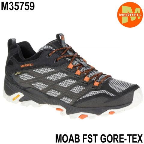 メレル モアブ エフエスティ ゴアテックス M35759 Black Merrell MOAB FST GORE-TEX メンズ アウトドア ゴアテックス スニーカー 防水