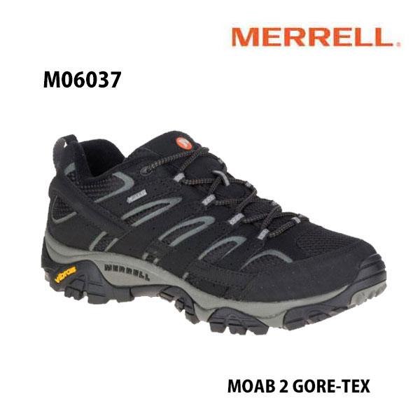 Merrell M06037 MOAB 2 GORE-TEX Black メレル モアブ 2 ゴアテックス ブラック メンズ アウトドア スニーカー 防水 幅2E相当