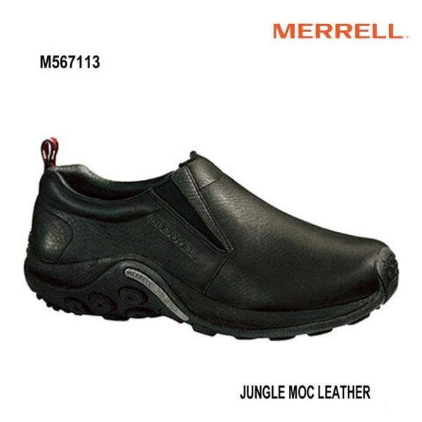 Merrell M567113 Jungle Moc Leather Black メレル ジャングルモック レザー ブラック メンズ アウトドア スニーカー 幅2E相当