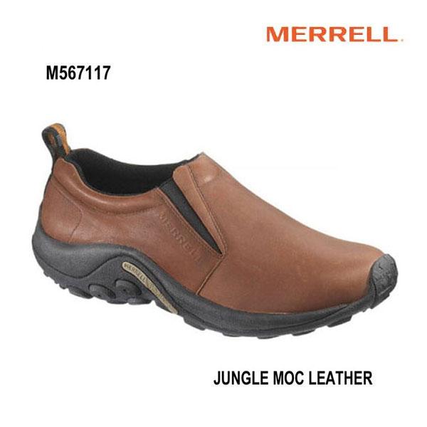 Merrell M567117 Jungle Moc Leather Dark Brown メレル ジャングルモック レザー ダークブラウン メンズ アウトドア スニーカー 幅2E相当