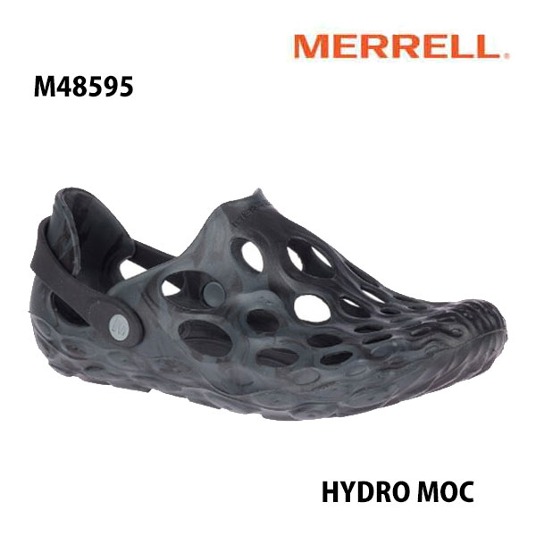 安心の丸紅フットウェア正規販売店 新作通販 Merrell HYDRO MOC M48595 BLACK ハイドロ 迅速な対応で商品をお届け致します メンズ アウトドア モック メレル サンダル