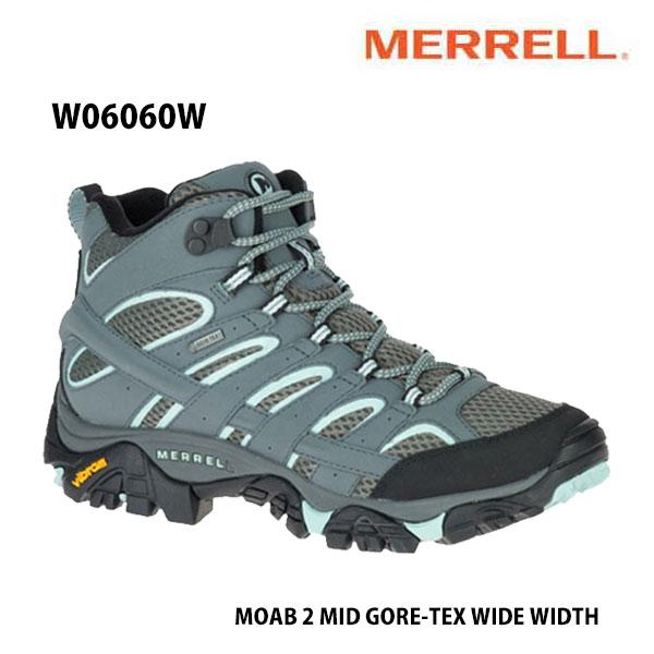 Merrell W06060W MOAB 2 MID GORE-TEX WIDE WIDTH SEDONA SAGE メレル ウィメンズ モアブ 2 ミッド ゴアテックス ワイド ワイズ レディース アウトドア スニーカー 防水 幅広 幅3E相当