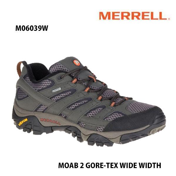 Merrell M06039W MOAB 2 GORE-TEX WIDE WIDTH BELUGA  メレル モアブ 2 ゴアテックス ワイド ワイズ ベルーガ メンズ アウトドア スニーカー 防水 幅広 幅3E相当