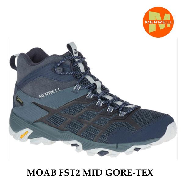 Merrell MOAB FST2 MID GORE-TEX M77495 NAVY/SLATE   メレル モアブ エフエスティ2 ミッド ゴアテックス  メンズ アウトドア ゴアテックス スニーカー 防水