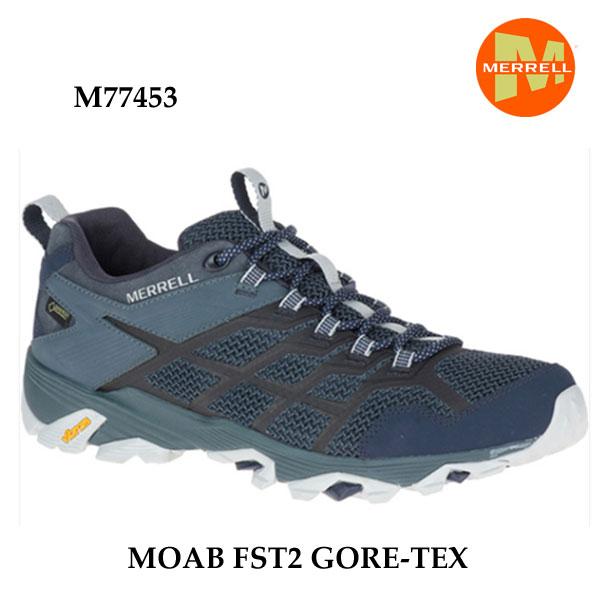 Merrell MOAB FST2 GORE-TEX M77453 NAVY/SLATE メレル モアブ エフエスティ2 ゴアテックス  メンズ アウトドア スニーカー
