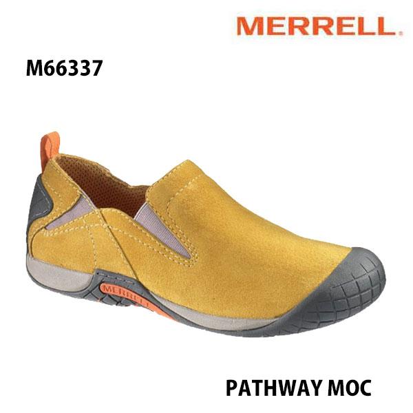 Merrell PATHWAY MOC Men's M66337 HONEY メレル メンズ パスウェイモック メンズ アウトドア シューズ 幅2E相当