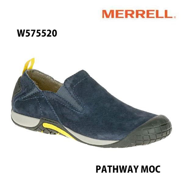 Merrell W575520 PATHWAY MOC Women's NAVY メレル ウィメンズ パスウェイモック レディース アウトドア シューズ 幅2E相当