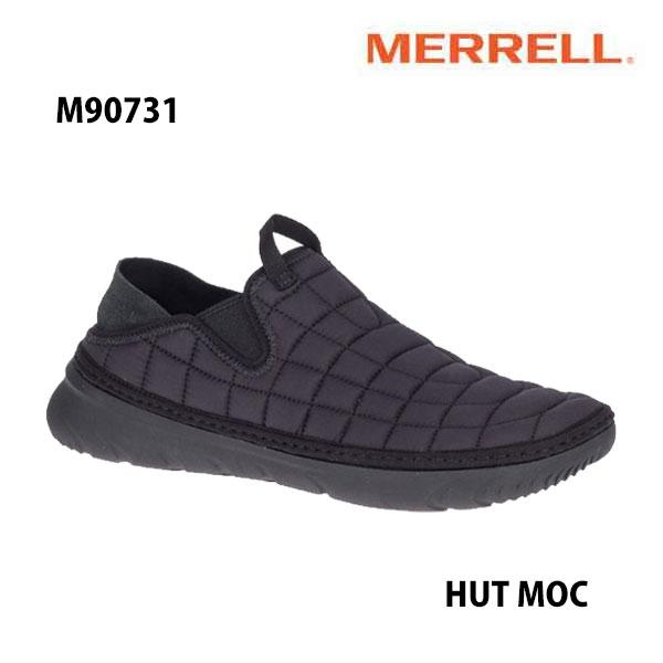 安心の丸紅フットウェア正規品   Merrell M90731 HUT MOC Men's TRIPLE BLACK  メレル ハット モック トリプルブラック メンズ アウトドア シューズ