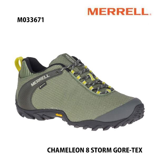 Merrell M033671 CHAMELEON 8 STORM GORE-TEX LICHEN  メレル カメレオン 8 ストーム ゴアテックス メンズ アウトドア ゴアテックス スニーカー 幅2E相当