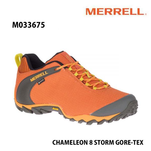 Merrell M033675 CHAMELEON 8 STORM GORE-TEX FLAME  メレル カメレオン 8 ストーム ゴアテックス メンズ アウトドア ゴアテックス スニーカー 幅2E相当