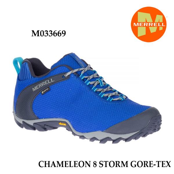 Merrell M033669 CHAMELEON 8 STORM GORE-TEX COBALT  メレル カメレオン 8 ストーム ゴアテックス メンズ アウトドア ゴアテックス スニーカー 幅2E相当