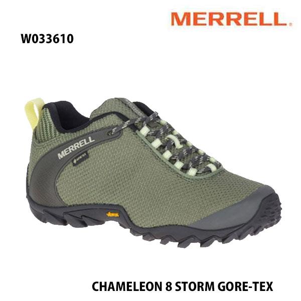 Merrell W033610 CHAMELEON 8 STORM GORE-TEX LICHEN メレル ウィメンズ カメレオン 8 ストーム ゴアテックス レディース アウトドア ゴアテックス スニーカー 幅2E相当