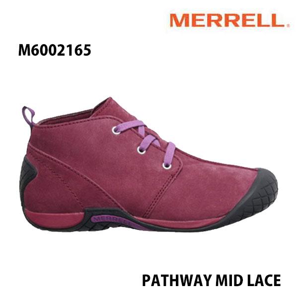 Merrell M6002165 PATHWAY MID LACE Men's SYRAH メレル メンズ パスウェイ ミッド レース シラー メンズ アウトドア シューズ 幅2E相当 新色