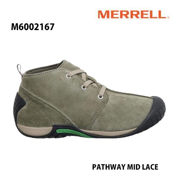 Merrell M6002167 PATHWAY MID LACE Men's OLIVE メレル メンズ パスウェイ ミッド レース オリーブ メンズ アウトドア シューズ 幅2E相当 新色