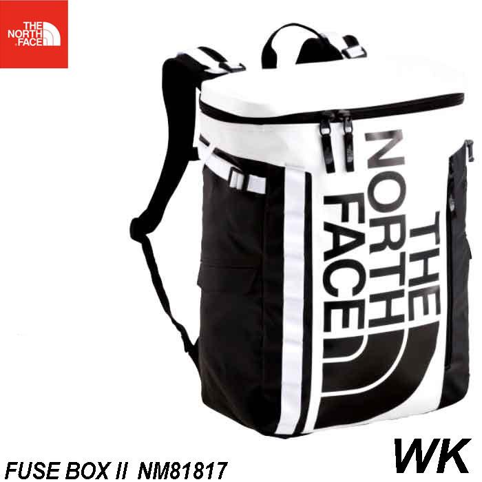 ザ ノースフェイス BCヒューズボックス ツー The North Face BC Fuse Box II 30L ボックス型スタンダード・デイバック NM81817 (WK) ホワイト × ブラック 大学生 社会人 パソコン収納 fuse box 2