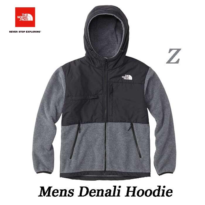 ザ ノースフェイス 2018-19年最新モデル デナリ フーディ(メンズ) フリースフード付きジャケット The North Face Mens Denali HOODIE NA71832 (Z)ミックスグレー