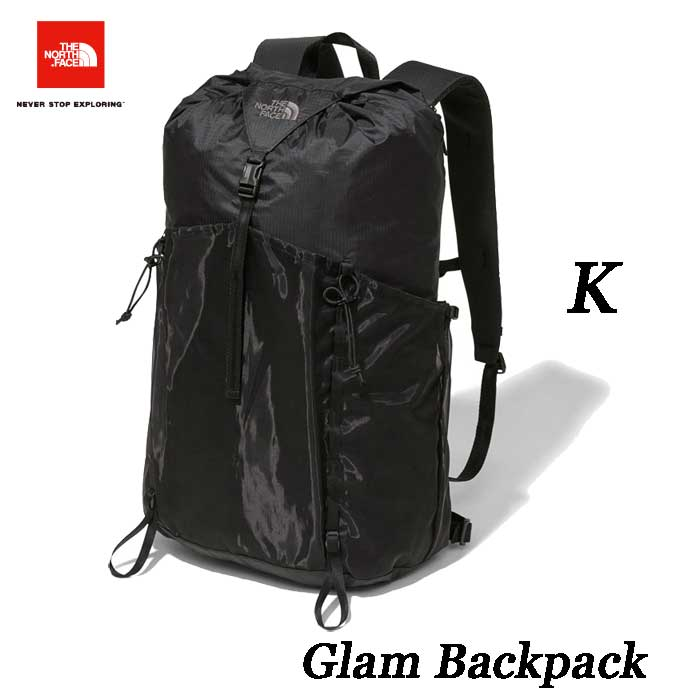 The North Face Glam Backpack 28L スタッフサック型デイパック ザ ノースフェイス グラム バックパック 28L NM81861 (K)ブラック