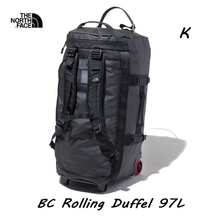 The North Face BC Rolling Duffel 97L ザ ノースフェイス BCローリングダッフル 97L NM81902 (K)ブラック
