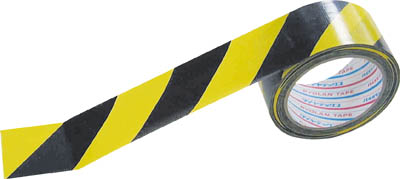 パイオラン 安全表示テープ 黄/黒 100mm×25m 特注品 3箱/54巻 ダイヤテックス TT-06-YB