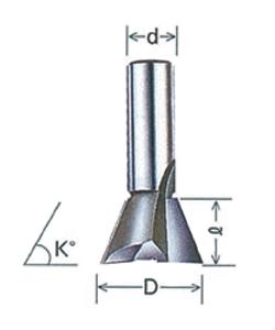 大日商 超硬アリ錐 ルーター用 (12x30/8D)