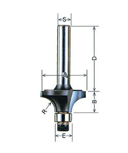 コーナービット ボーズ面6.0分(ルーター用)12mm軸 大日商 030413
