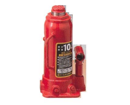 オーエッチ 油圧ジャッキ(荷重10トン用)【過負荷防止機構付】 OJ-10T