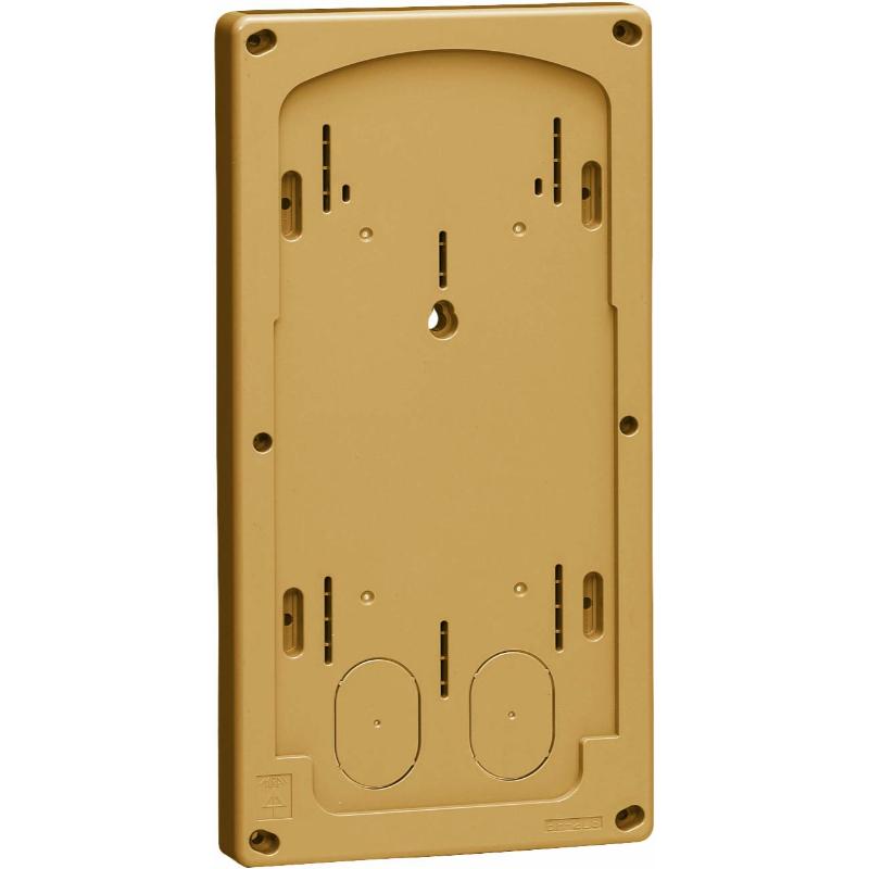 計器箱取付板 イエローブラウン BP-2LSYB 10個価格 未来工業 BP-2LSYB