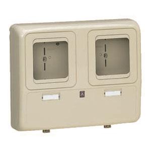 電力量計ボックス(化粧ボックス)グレー WP-2WG 6個価格 未来工業 WP-2WG