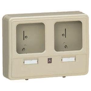 電力量計ボックス(化粧ボックス)ベージュ WP-2WJ-Z 6個価格 未来工業 WP-2WJ-Z