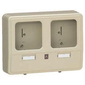 電力量計ボックス(化粧ボックス)ライトブラウン WP-2WLB-Z 6個価格 未来工業 WP-2WLB-Z