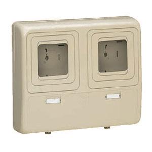 電力量計ボックス(化粧ボックス)ダークグレー 1個価格 未来工業 WP-3WDG-Z
