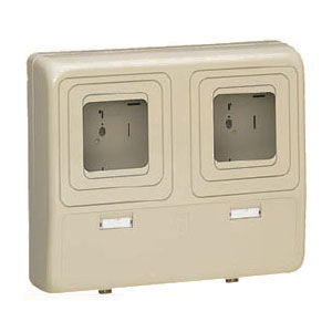 電力量計ボックス(化粧ボックス)ダークグレー WP-3WDG 1個価格 未来工業 WP-3WDG